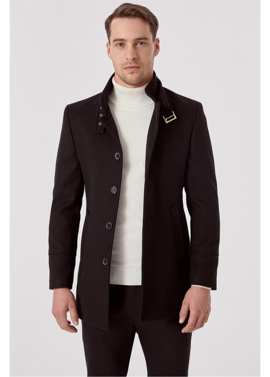 PLT 069 Siyah Klasik Palto