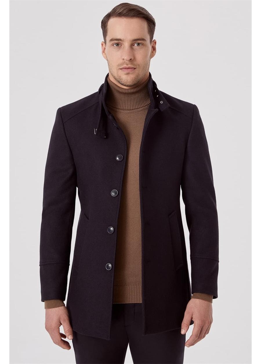 PLT 069 Lacivert Klasik Palto