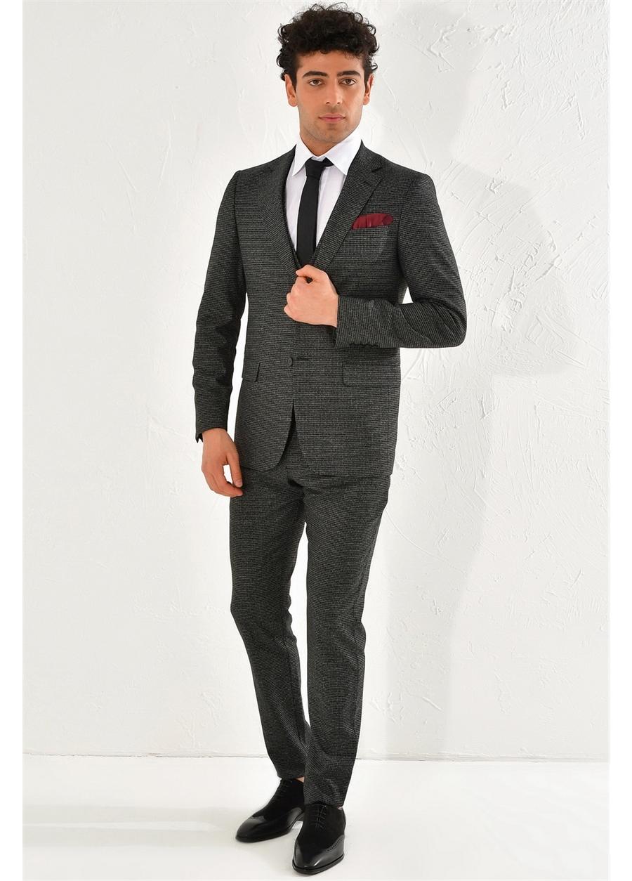 STK 004 Skınny Siyah Spor Takım Elbise