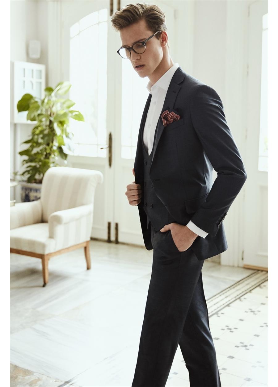 TK 724 Slim Fit Füme Klasik Takım Elbise