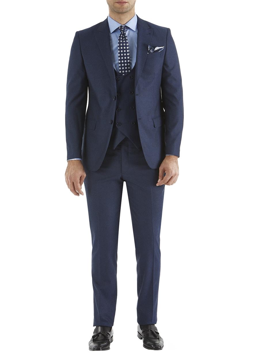 TK 742 Slim Fit Lacivert Spor Takım Elbise