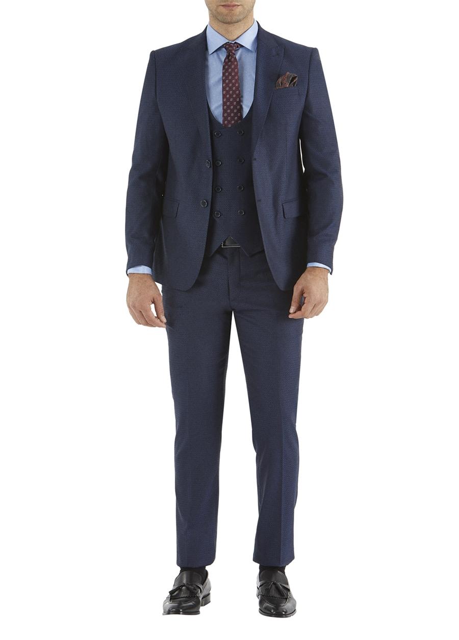 TK 743 Slim Fit Lacivert Spor Takım Elbise