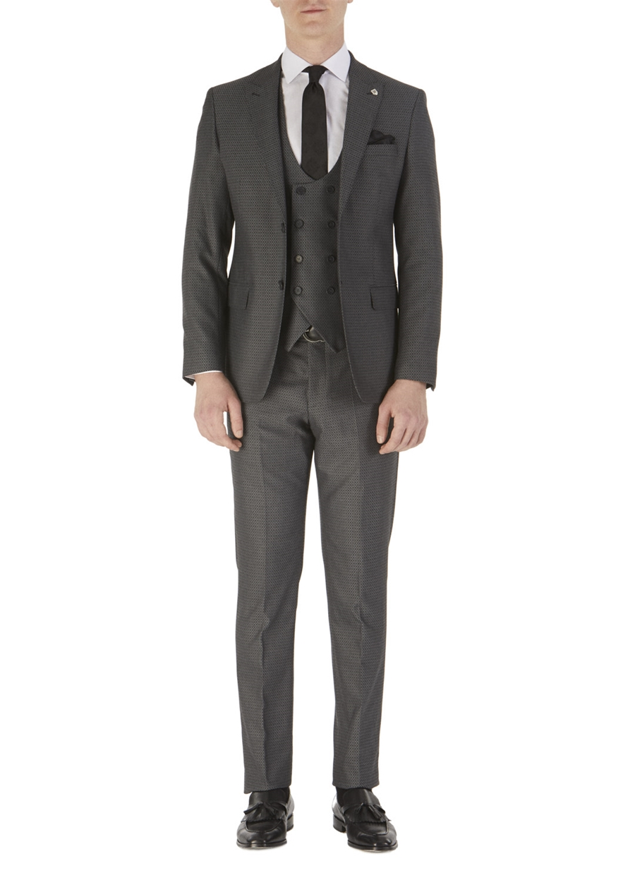 TK 743 Slim Fit Füme Spor Takım Elbise