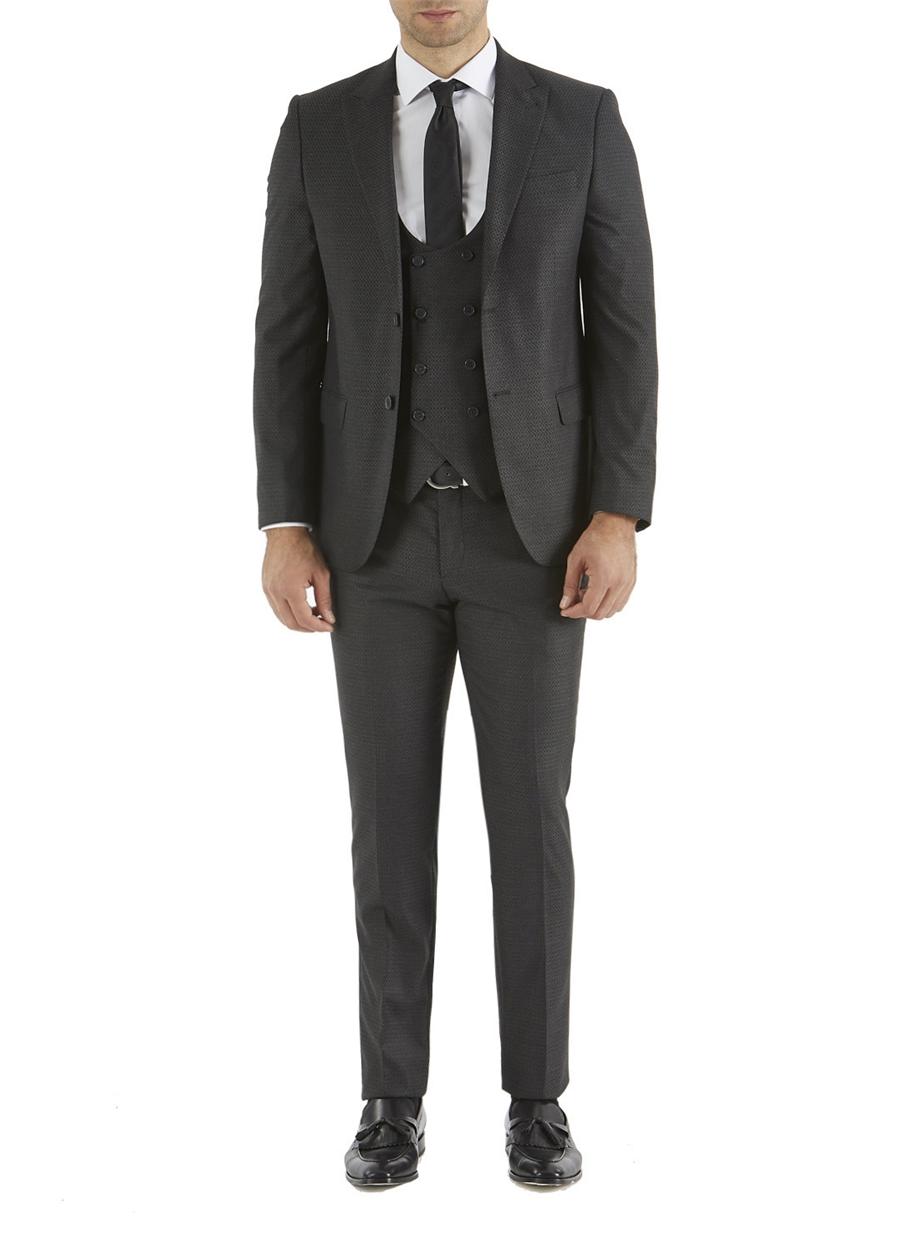 TK 743 Slim Fit Antrasit Spor Takım Elbise