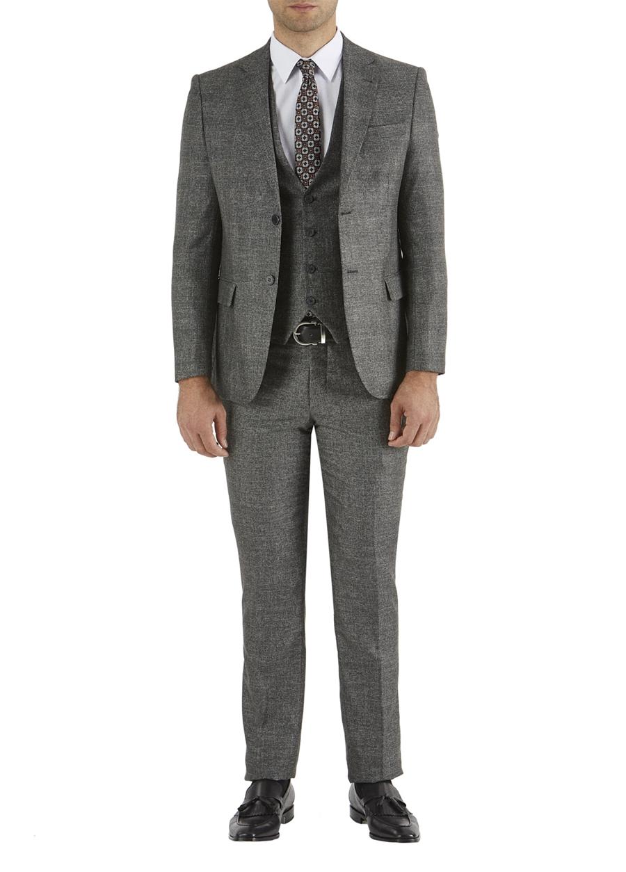 TK 749 Slim Fit Antrasit Klasik Takım Elbise