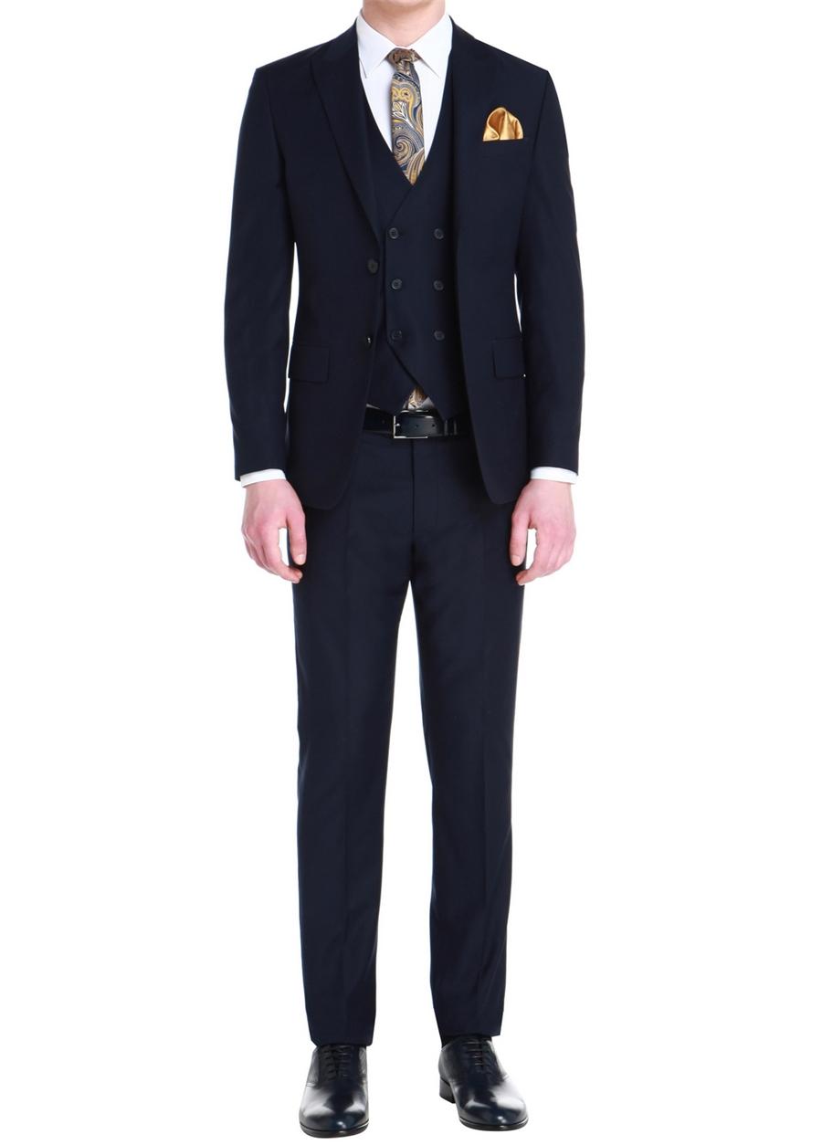 TK 750 Slim Fit Lacivert Klasik Takım Elbise