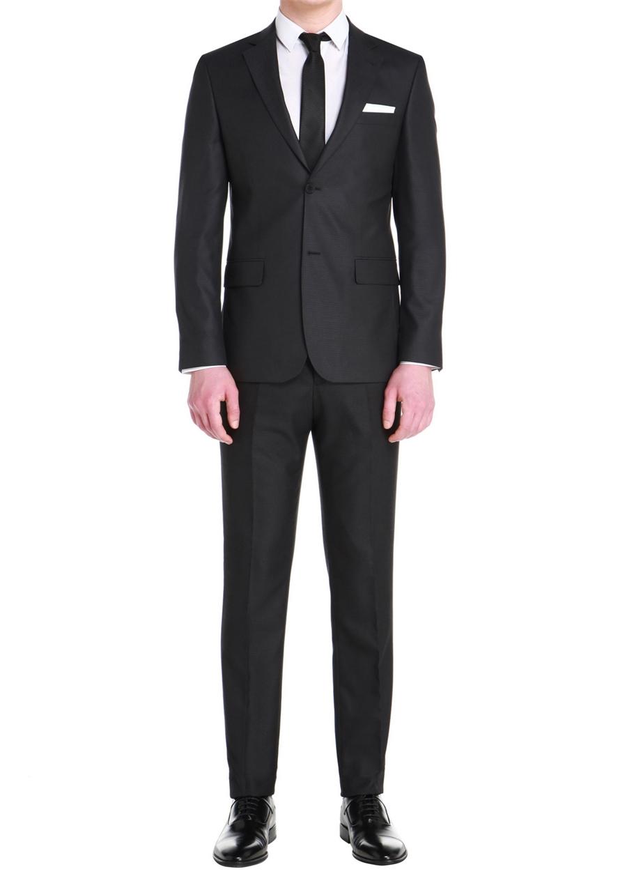 TK 758 Slim Fit Siyah Klasik Takım Elbise
