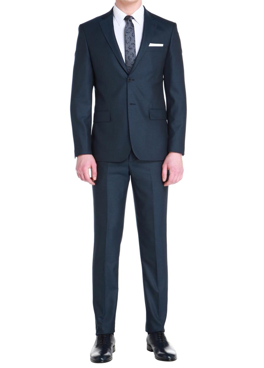 TK 758 Slim Fit Lacivert Klasik Takım Elbise