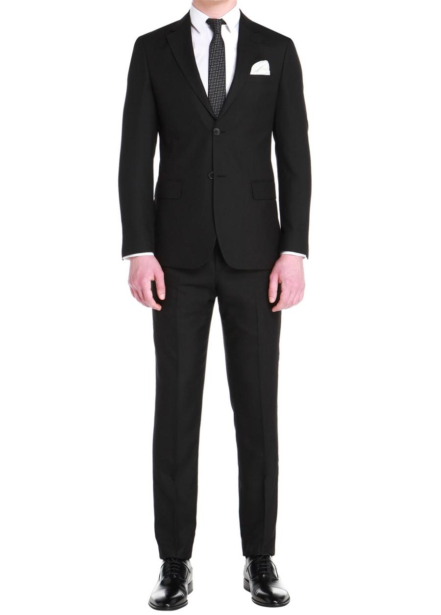TK 759 Slim Fit Siyah Klasik Takım Elbise