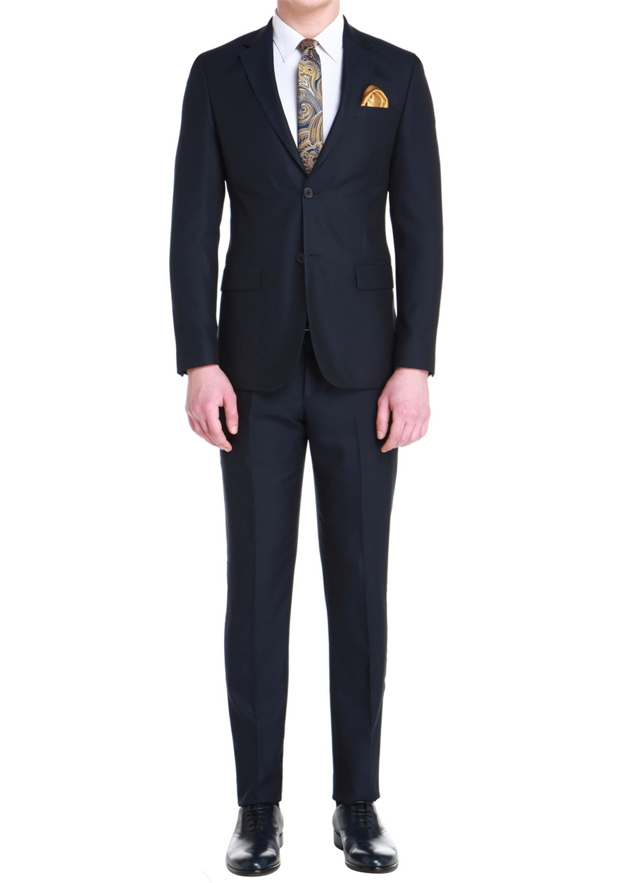 TK 759 Slim Fit Lacivert Klasik Takım Elbise