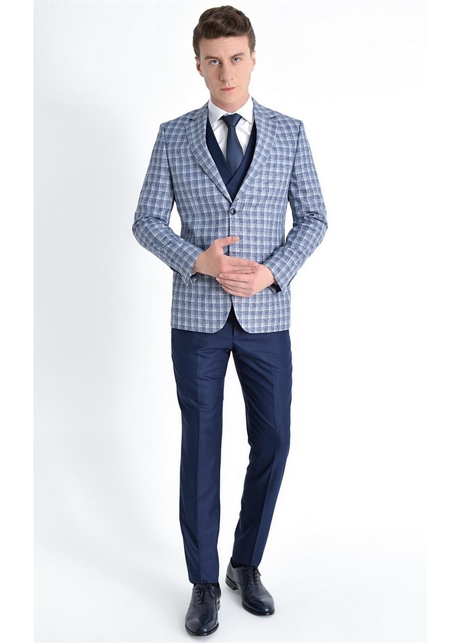 TK 769 Slim Fit Lacivert Klasik Takım Elbise