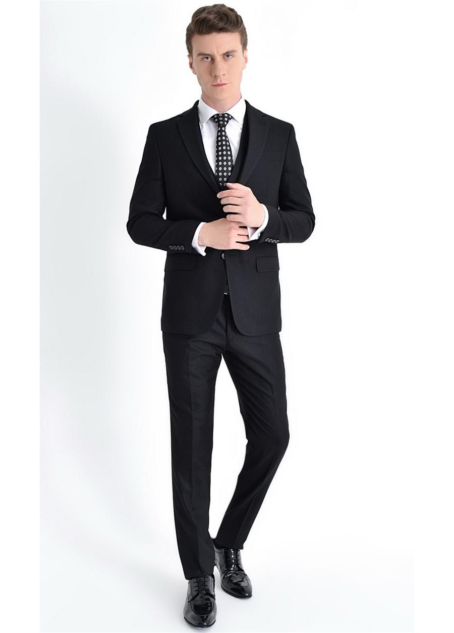 TK 770 Slim Fit Siyah Klasik Takım Elbise