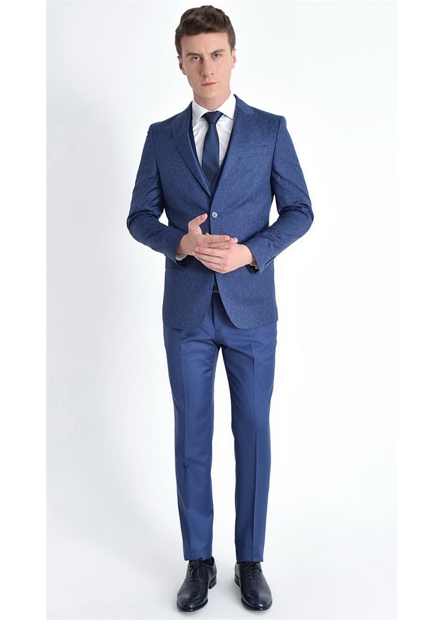 TK 774 Slim Fit Parlement Klasik Takım Elbise