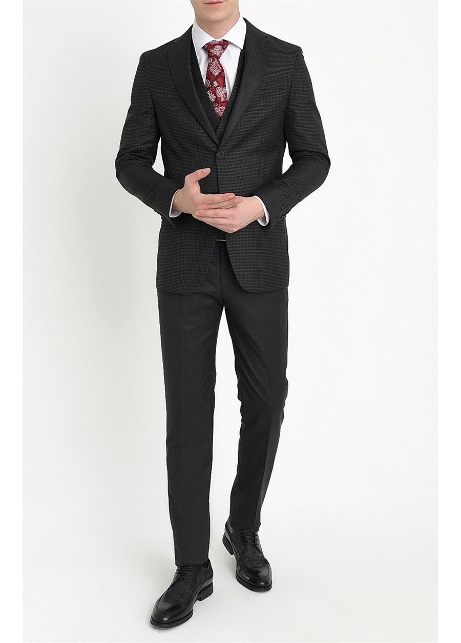 TK 782 Slim Fit Siyah Klasik Takım Elbise