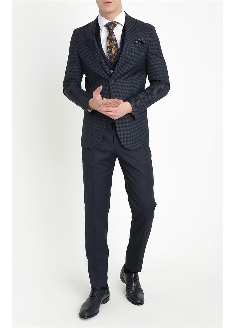 TK 782 Slim Fit Lacivert Klasik Takım Elbise