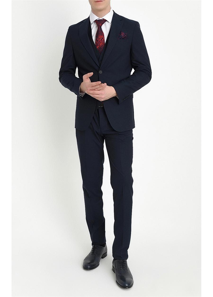TK 784 Slim Fit Lacivert Klasik Takım Elbise