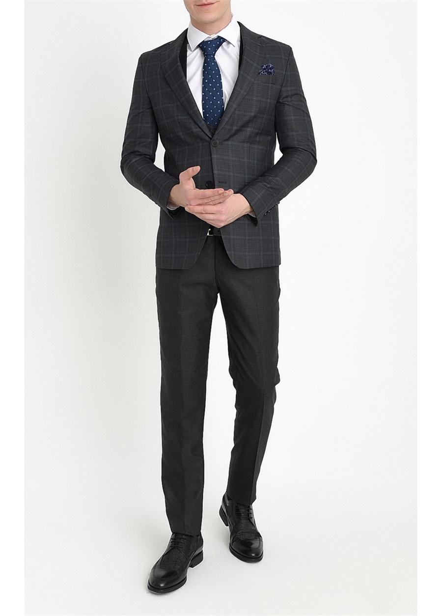 TK 785 Slim Fit Siyah Klasik Takım Elbise