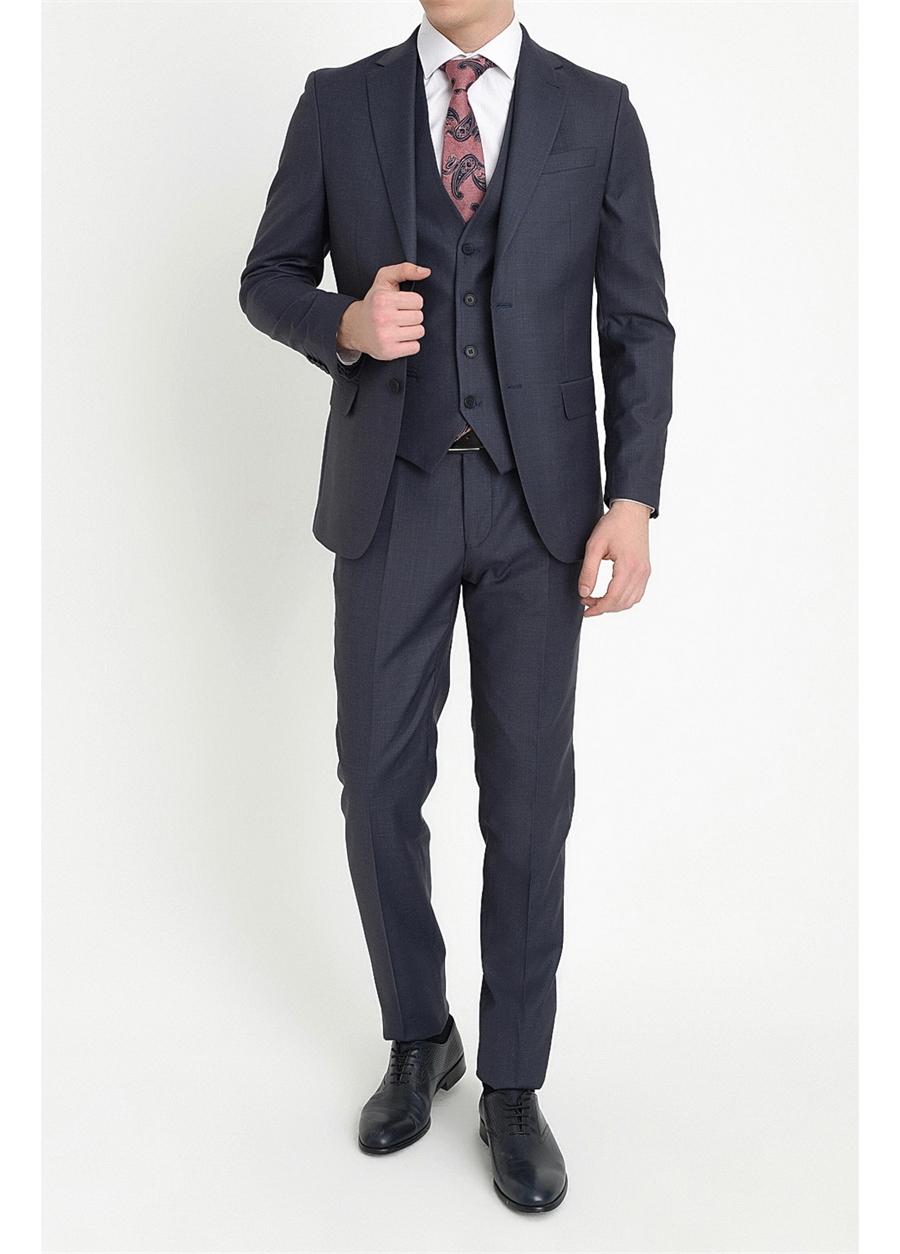 TK 786 Slim Fit Lacivert Klasik Takım Elbise
