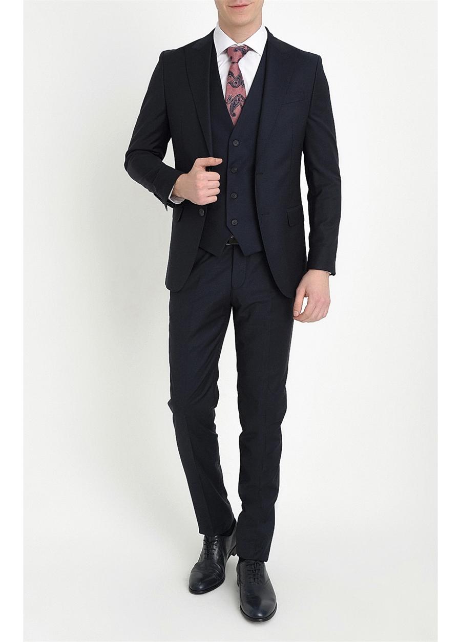 TK 787 Slim Fit Lacivert Klasik Takım Elbise