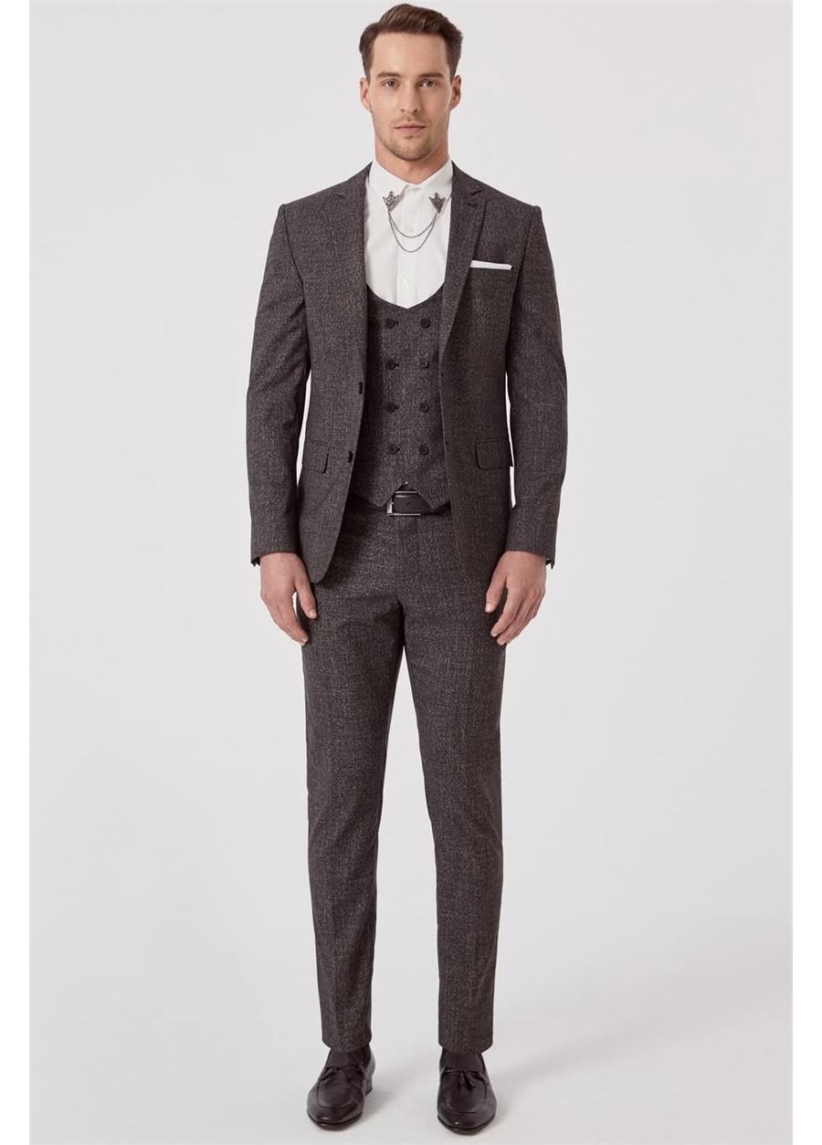 TK 789 Slim Fit Siyah Klasik Takım Elbise