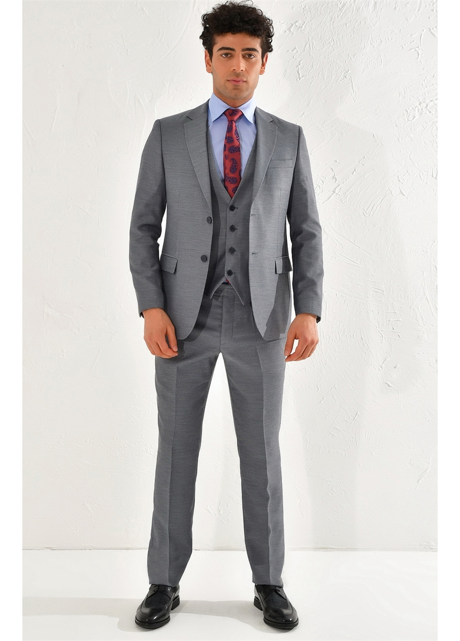 TK 791 Slim Fit Lacivert Klasik Takım Elbise