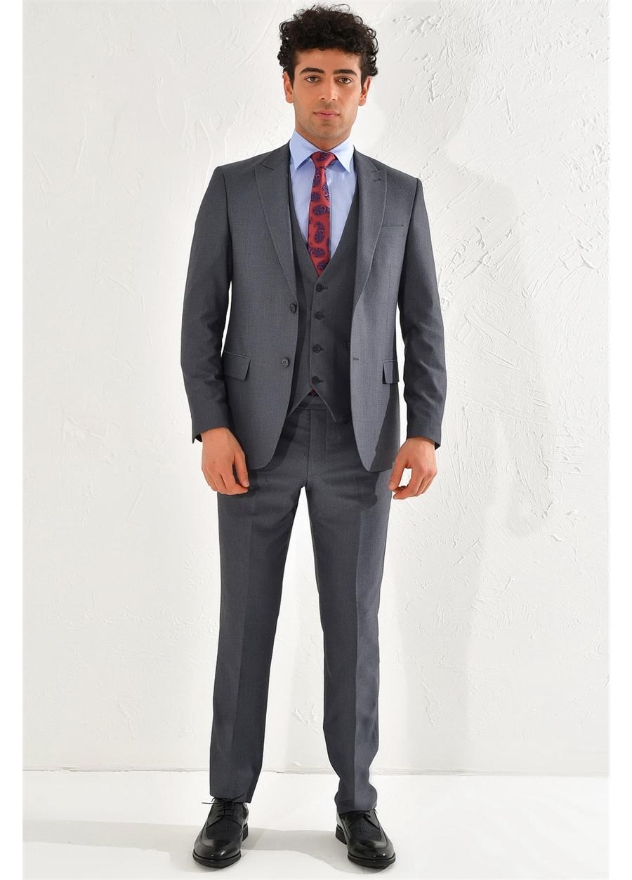 TK 793 Slim Fit Antrasit Klasik Takım Elbise