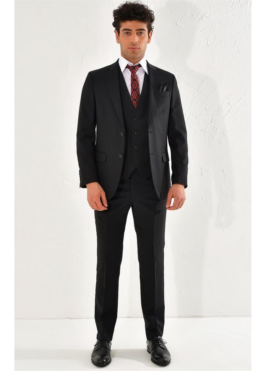 TK 797 Slim Fit Siyah Klasik Takım Elbise
