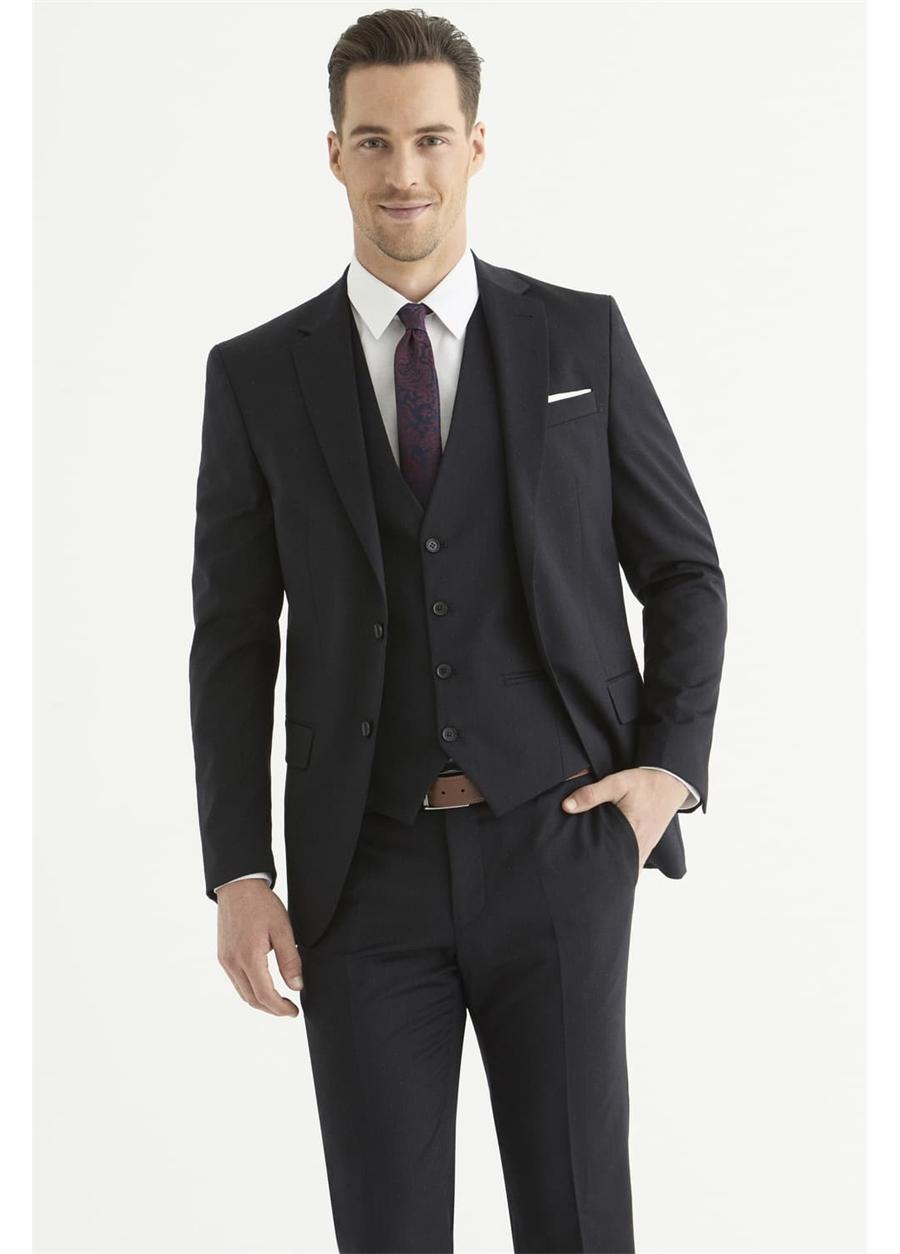 TK 797 Slim Fit Lacivert Klasik Takım Elbise