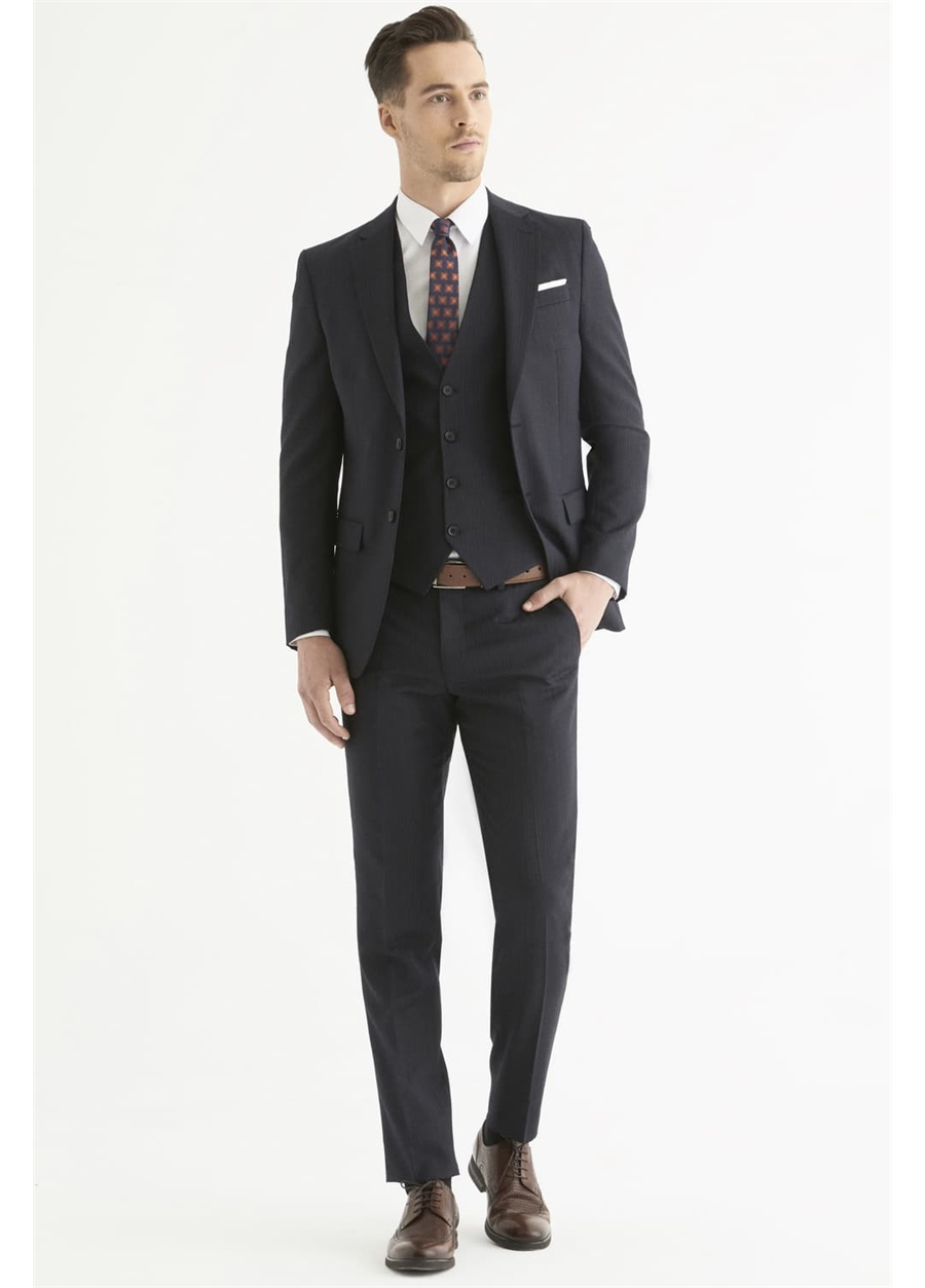 TK 800 Slim Fit Lacivert Klasik Takım Elbise