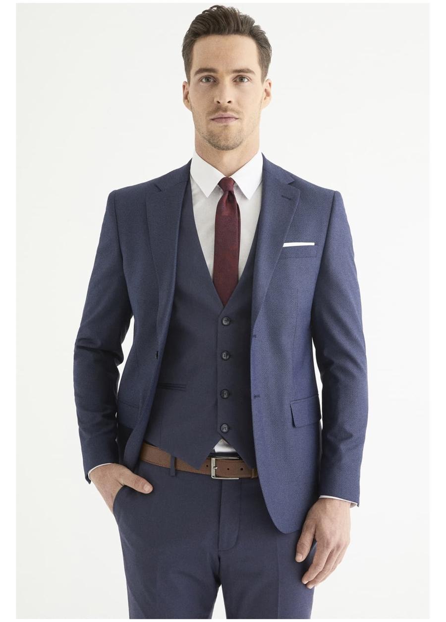 TK 803 Slim Fit Lacivert Klasik Takım Elbise