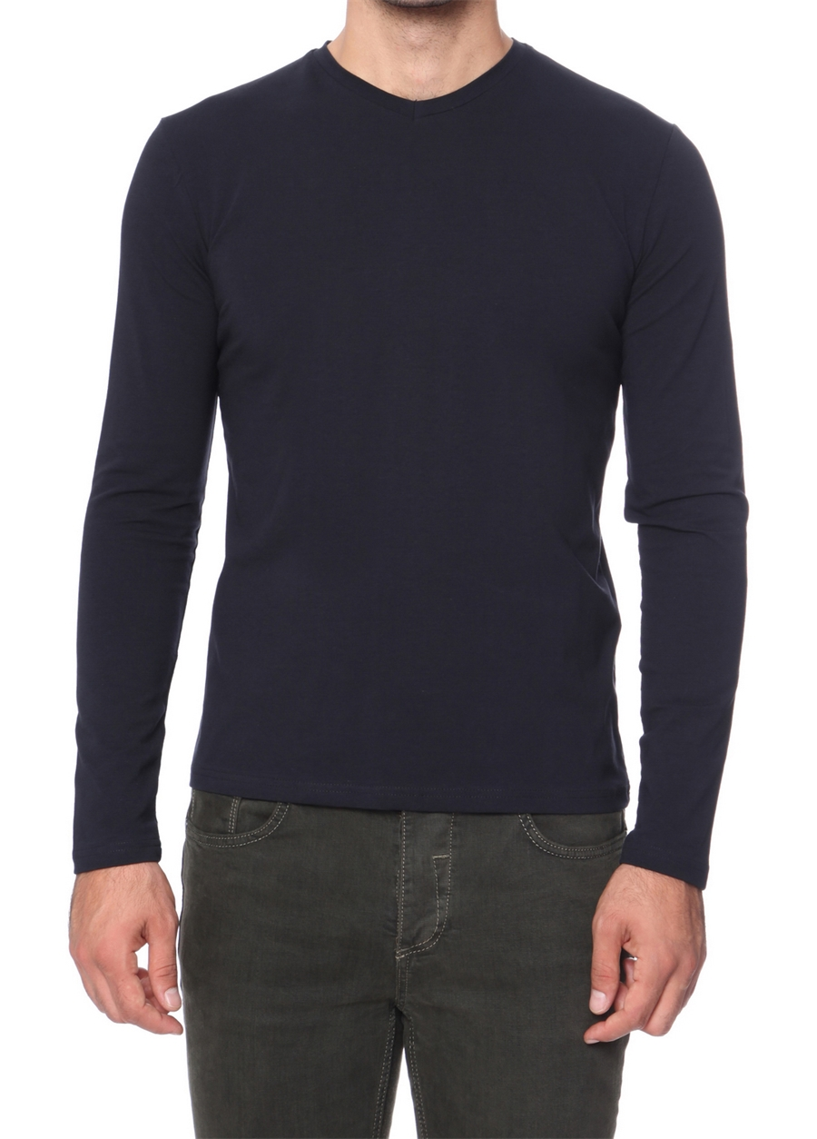 TS 665 Slim Fit Lacivert Spor T-Shirt