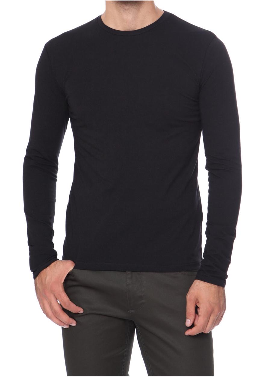TS 666 Slim Fit Siyah Spor T-Shirt