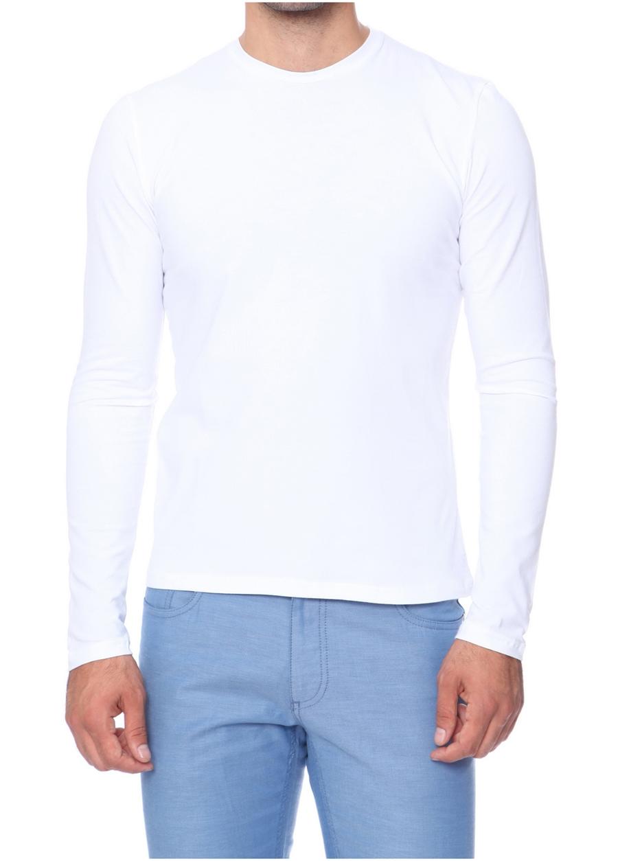 TS 666 Slim Fit Beyaz Spor T-Shirt