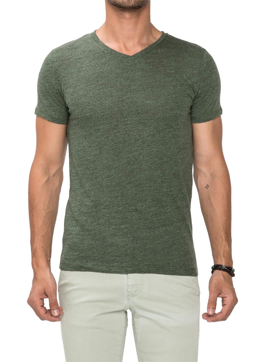 TS 679 Slim Fit Çağla Spor T-Shirt
