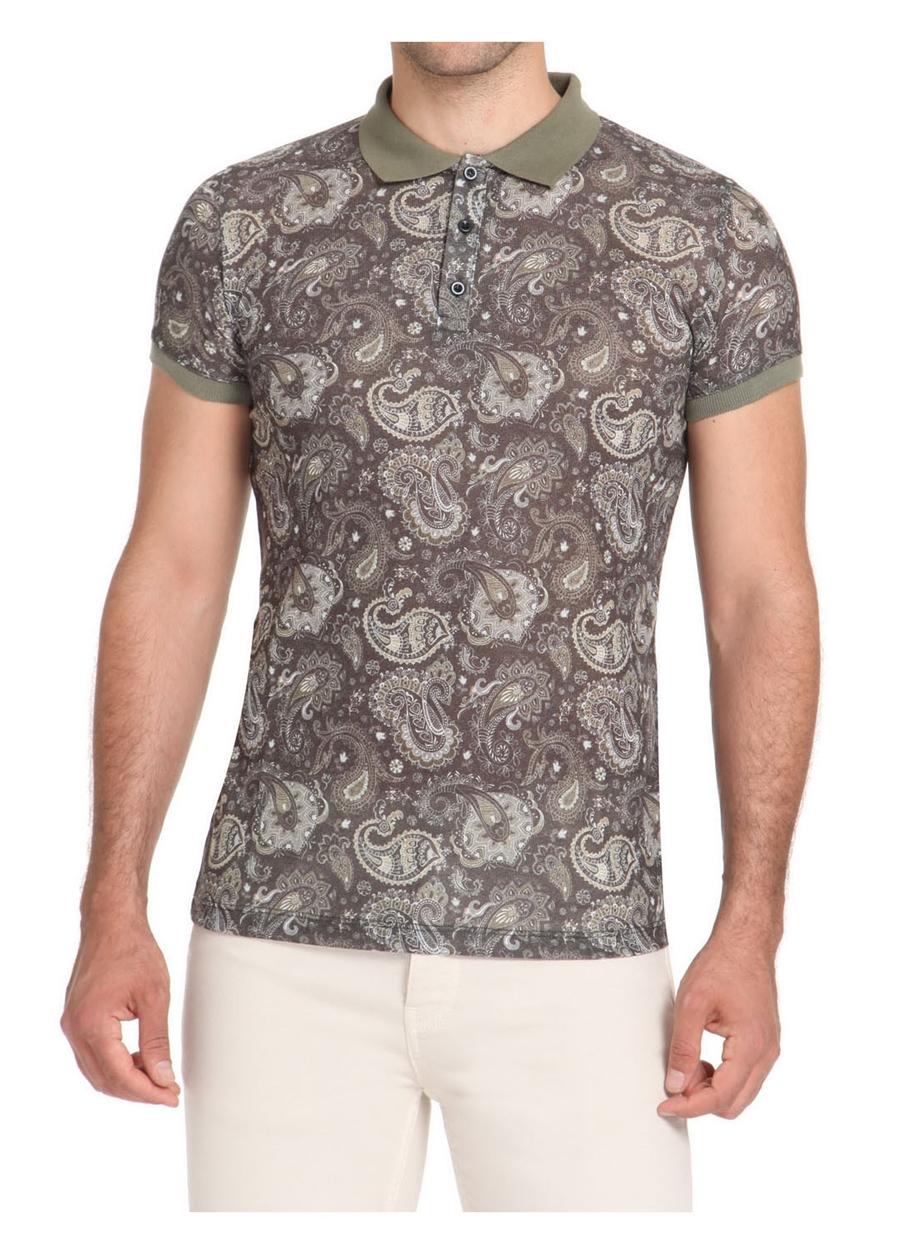 TS 723 Slim Fit Haki Spor T-Shirt