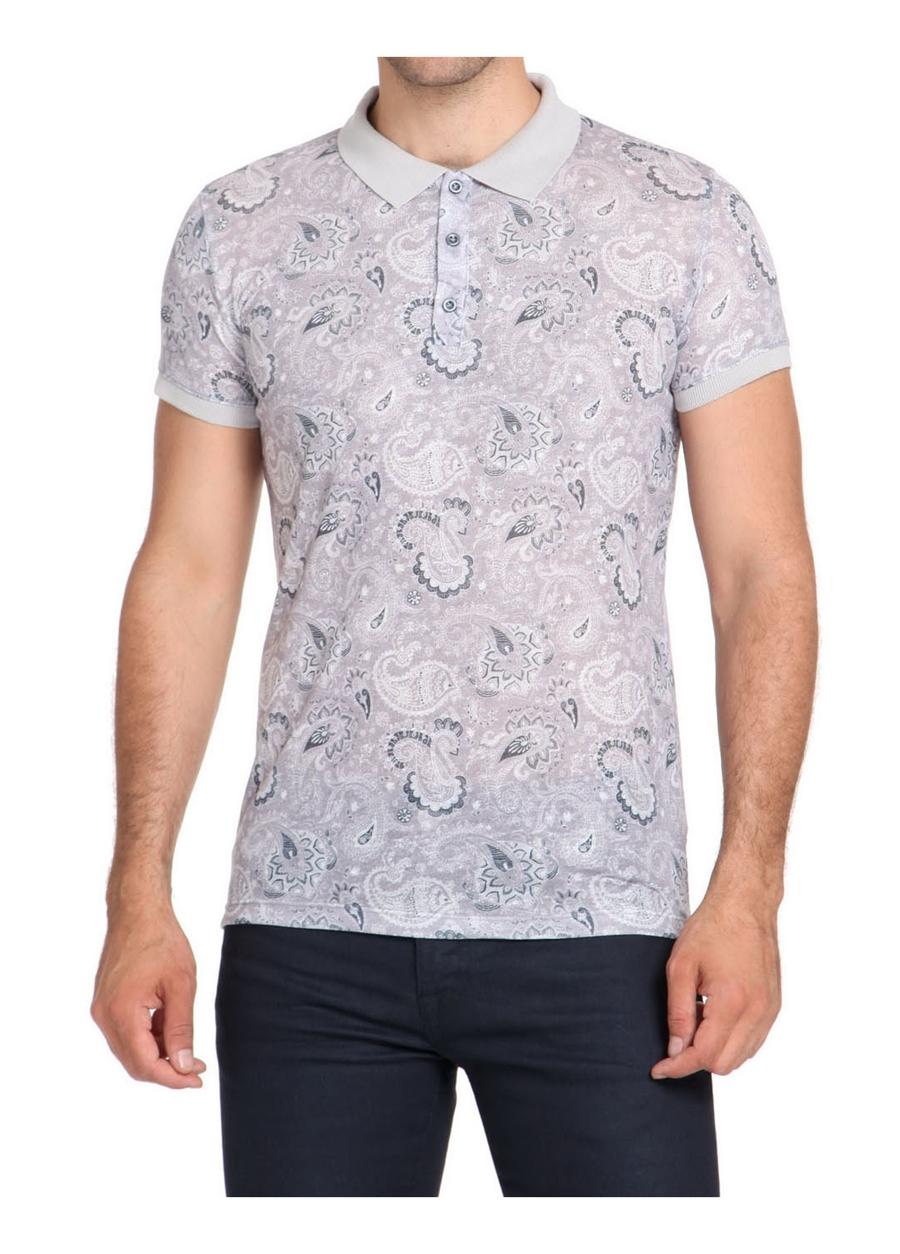 TS 723 Slim Fit Gri Spor T-Shirt