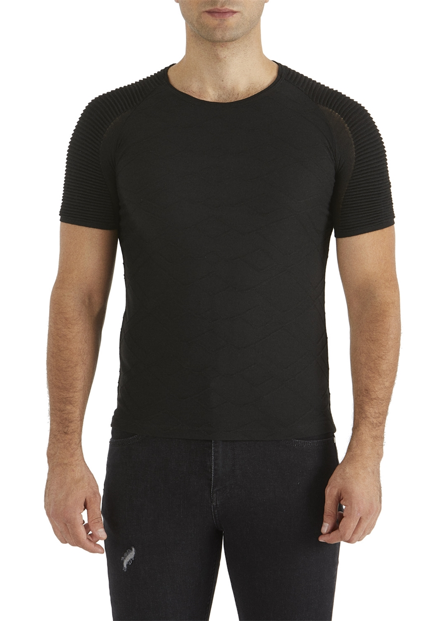 TS 725 Slim Fit Siyah Spor T-Shirt