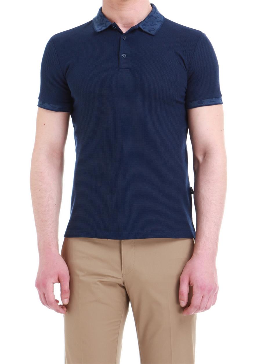 TS 729 Slim Fit Lacivert Spor T-Shirt