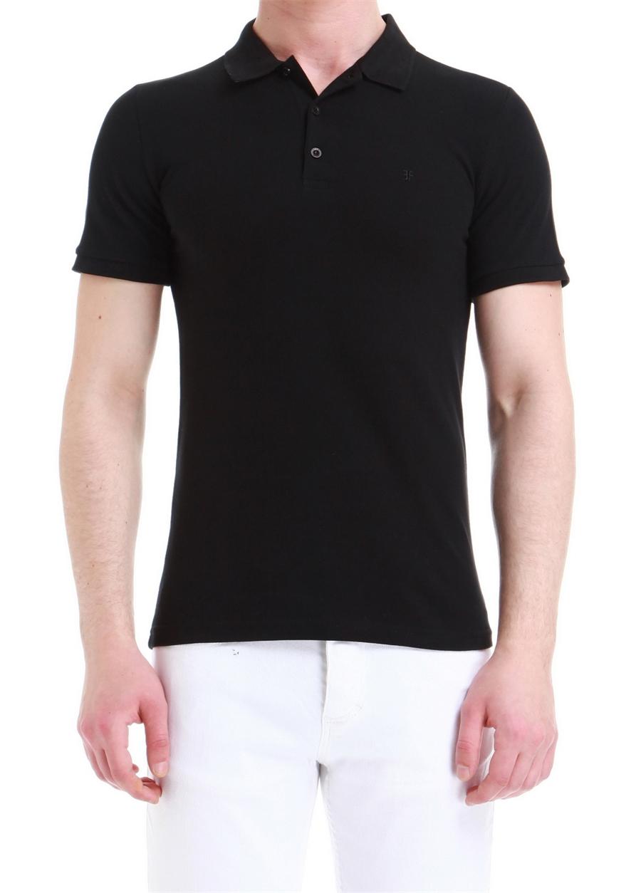 TS 734 Slim Fit Siyah Spor T-Shirt