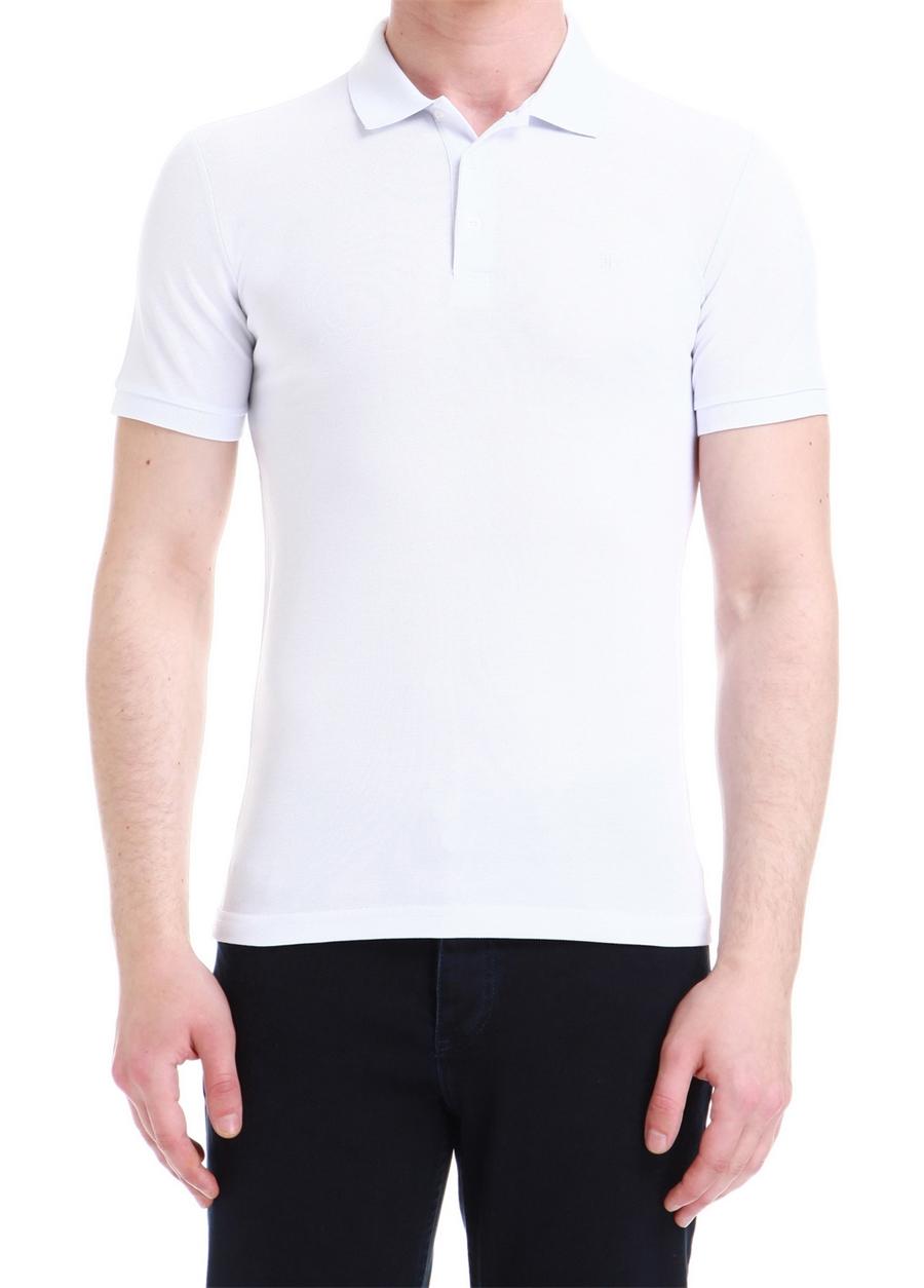 TS 734 Slim Fit Beyaz Spor T-Shirt