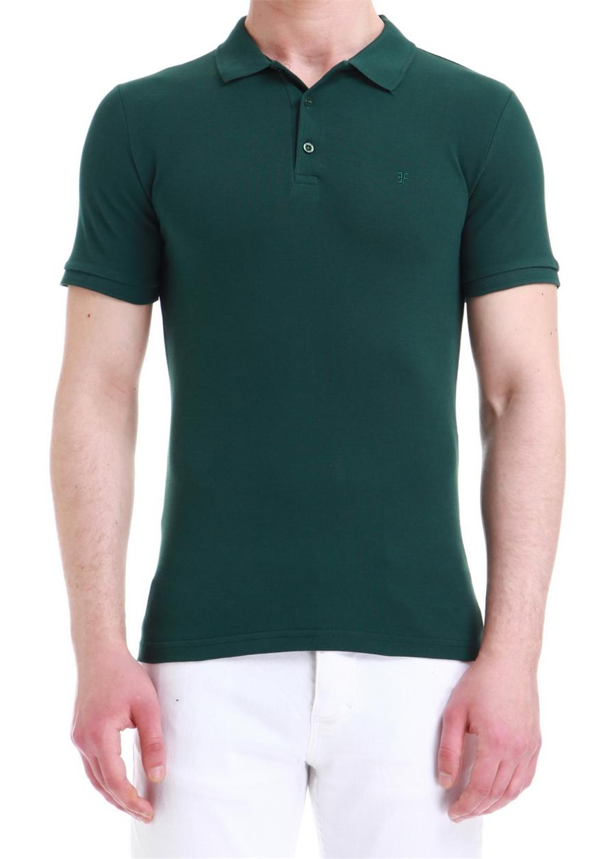 TS 734 Slim Fit Yeşil Spor T-Shirt