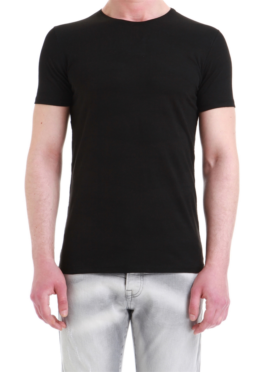 TS 743 Slim Fit Siyah Spor T-Shirt