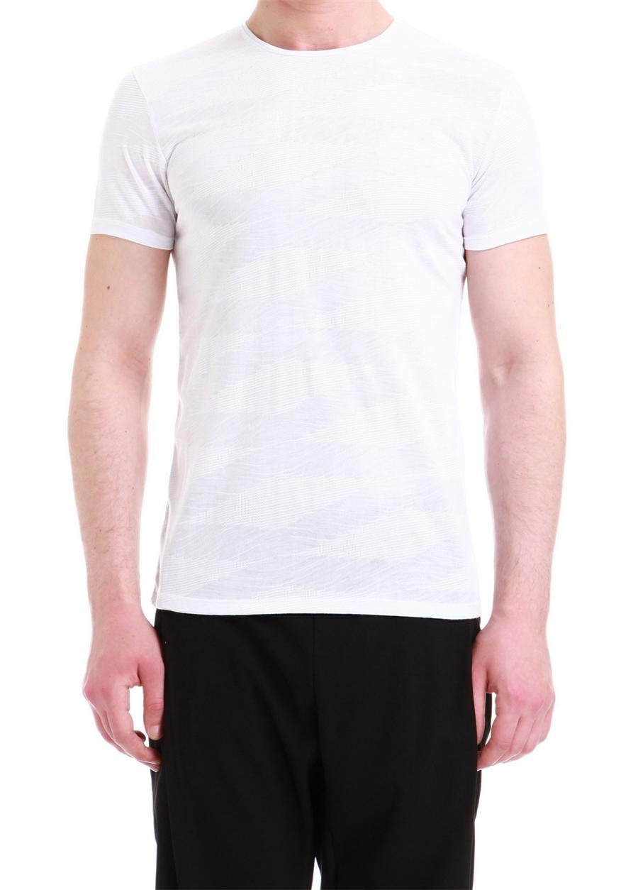 TS 743 Slim Fit Beyaz Spor T-Shirt