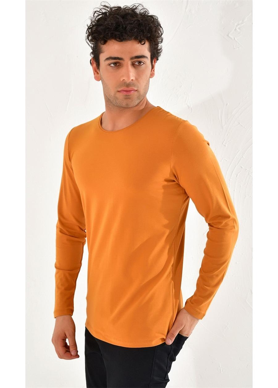 TS 754 Slim Fit Taba Spor T-Shirt