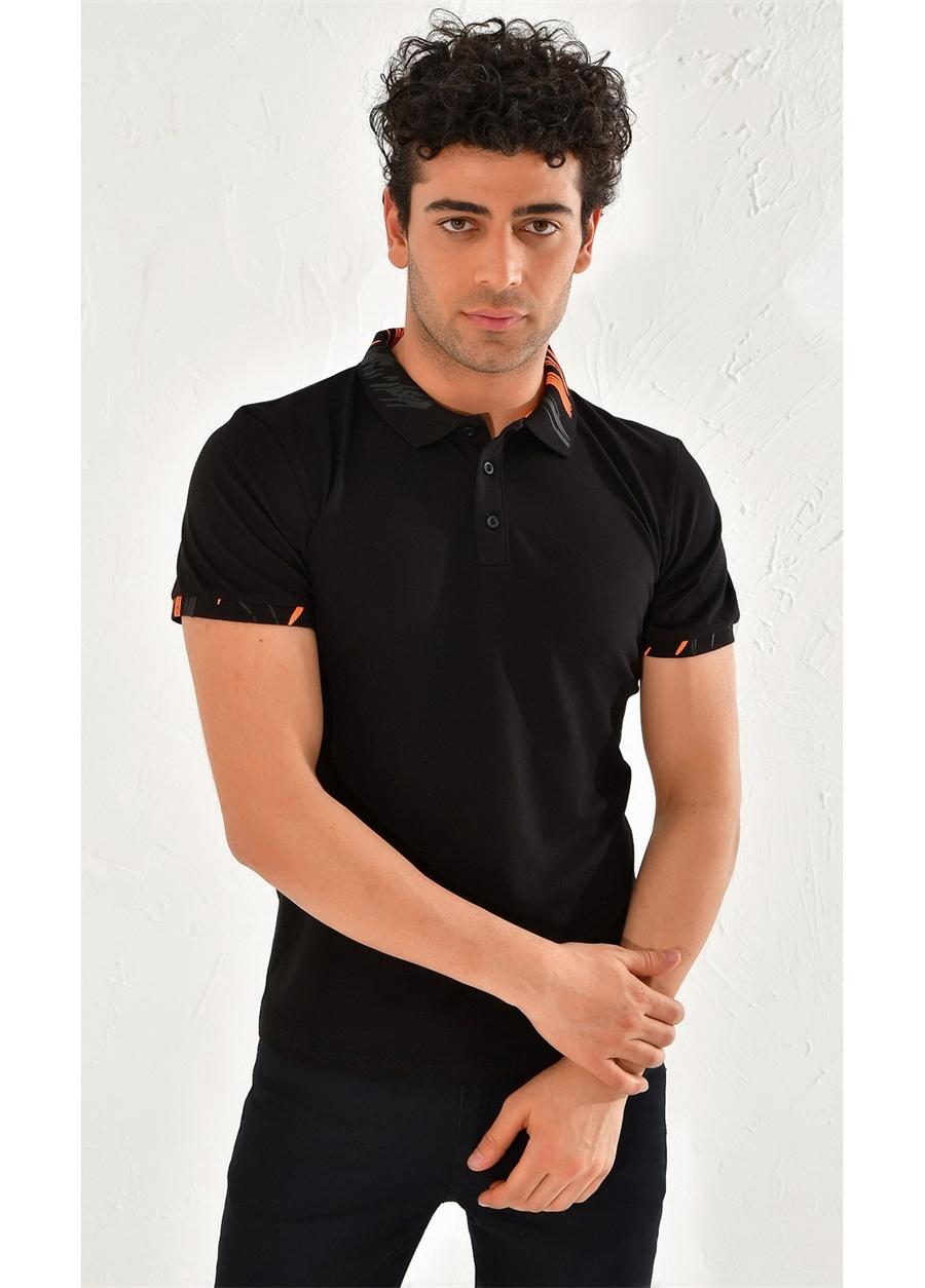 TS 755 Slim Fit Siyah Spor T-Shirt
