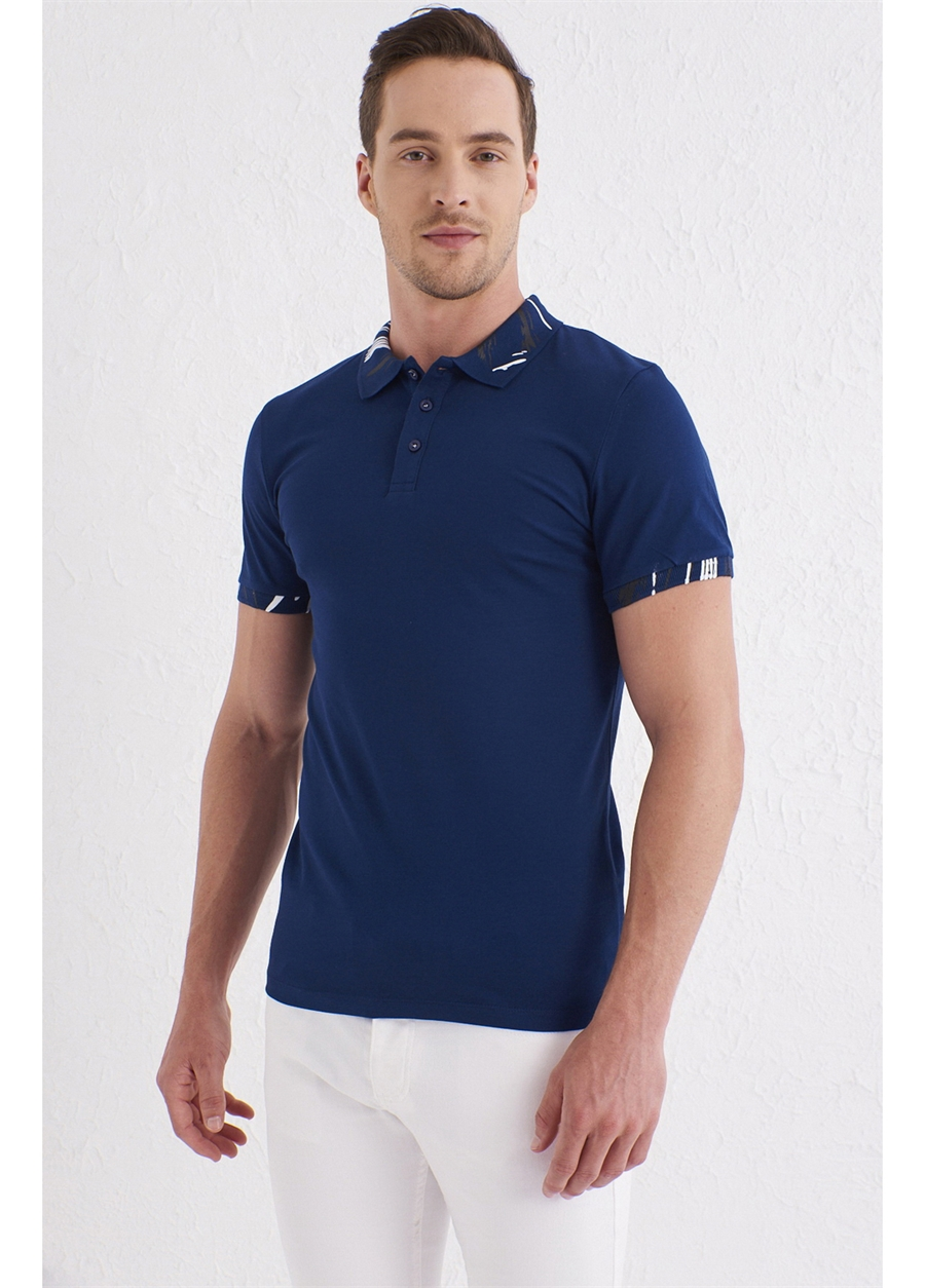 TS 755 Slim Fit Lacivert Spor T-Shirt