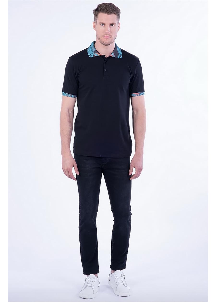 TS 790 Slim Fit Siyah Spor T-Shirt