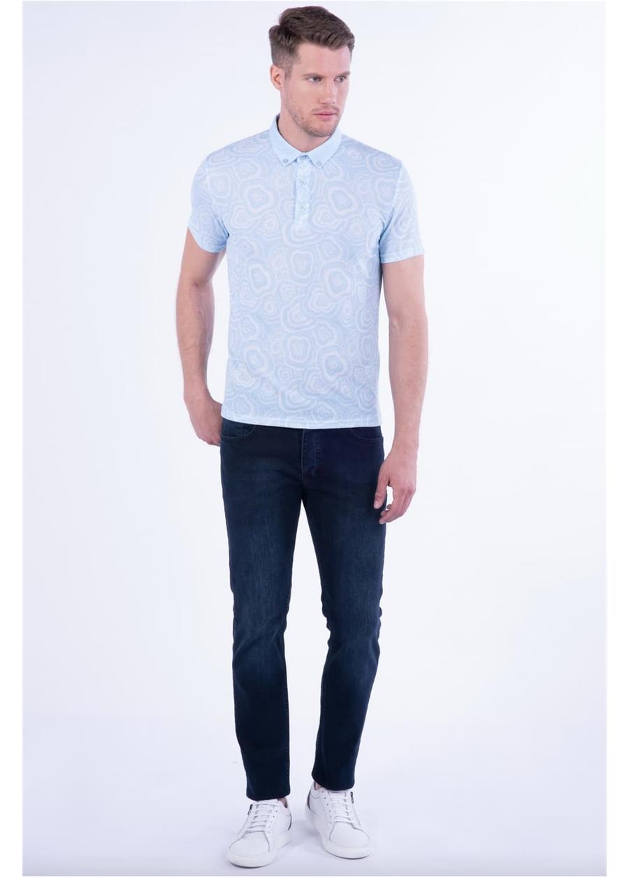 TS 801 Slim Fit Mavi Spor T-Shirt