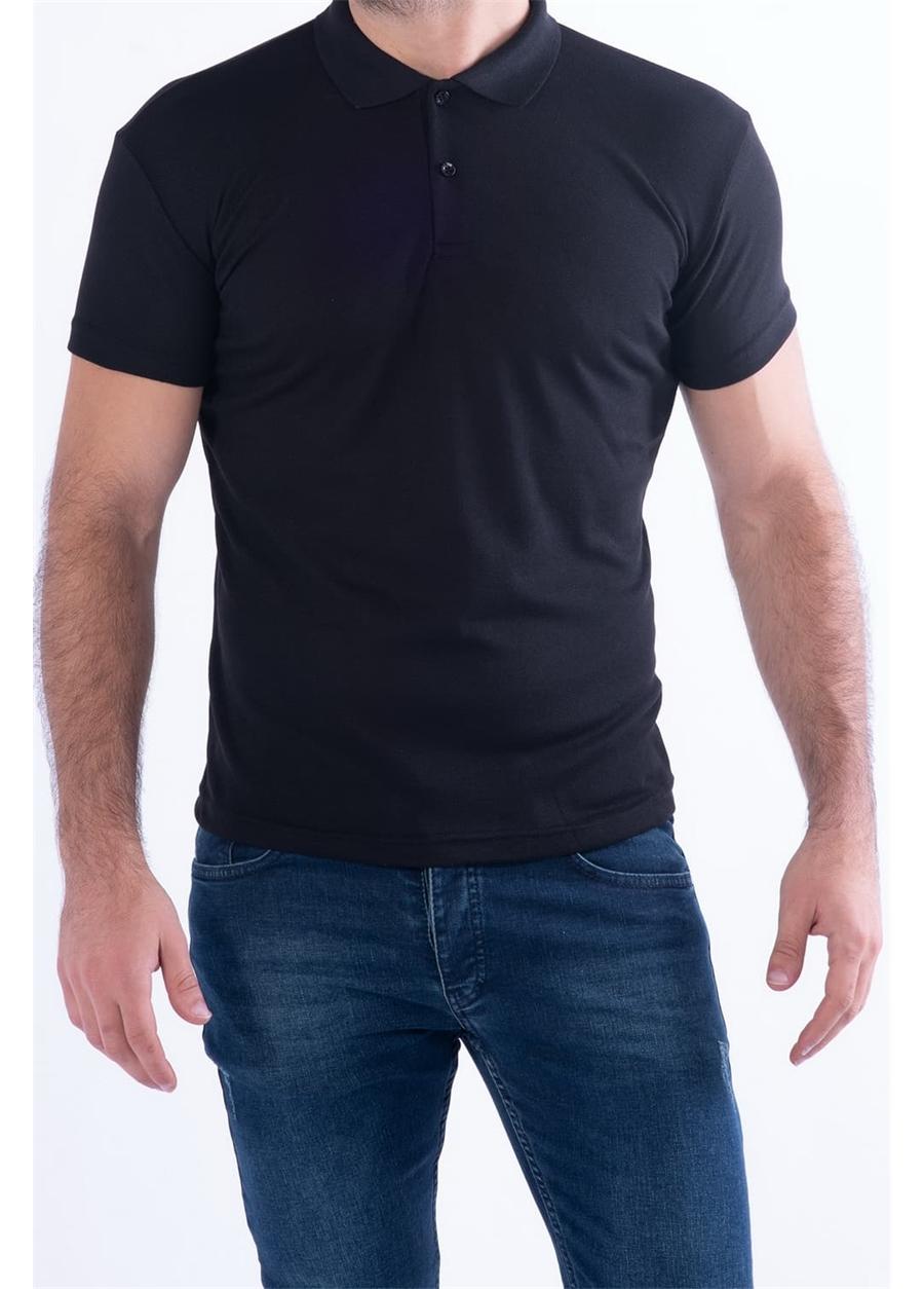 TS 813 Slim Fit Siyah Spor T-Shirt