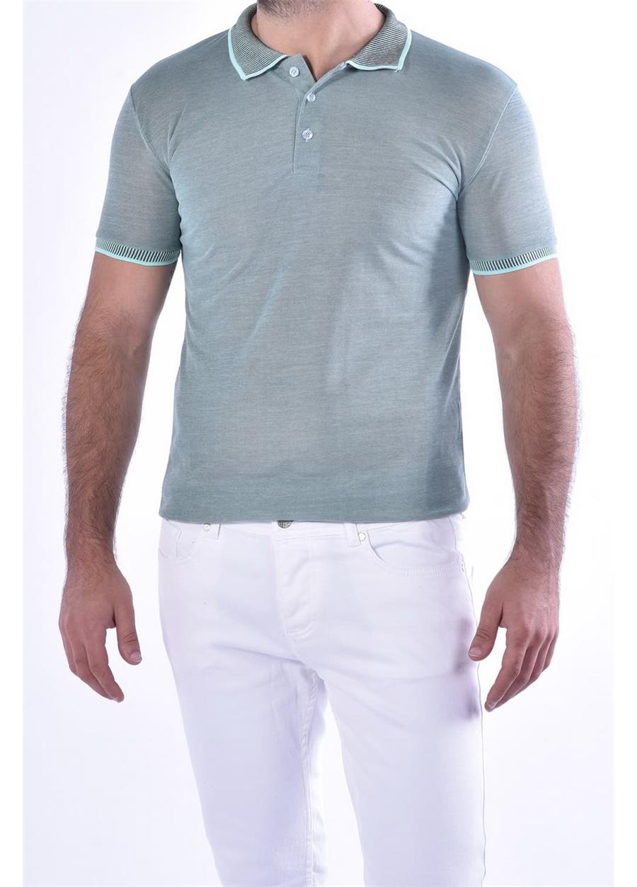 TS 814 Slim Fit Nil Yeşili Spor T-Shirt
